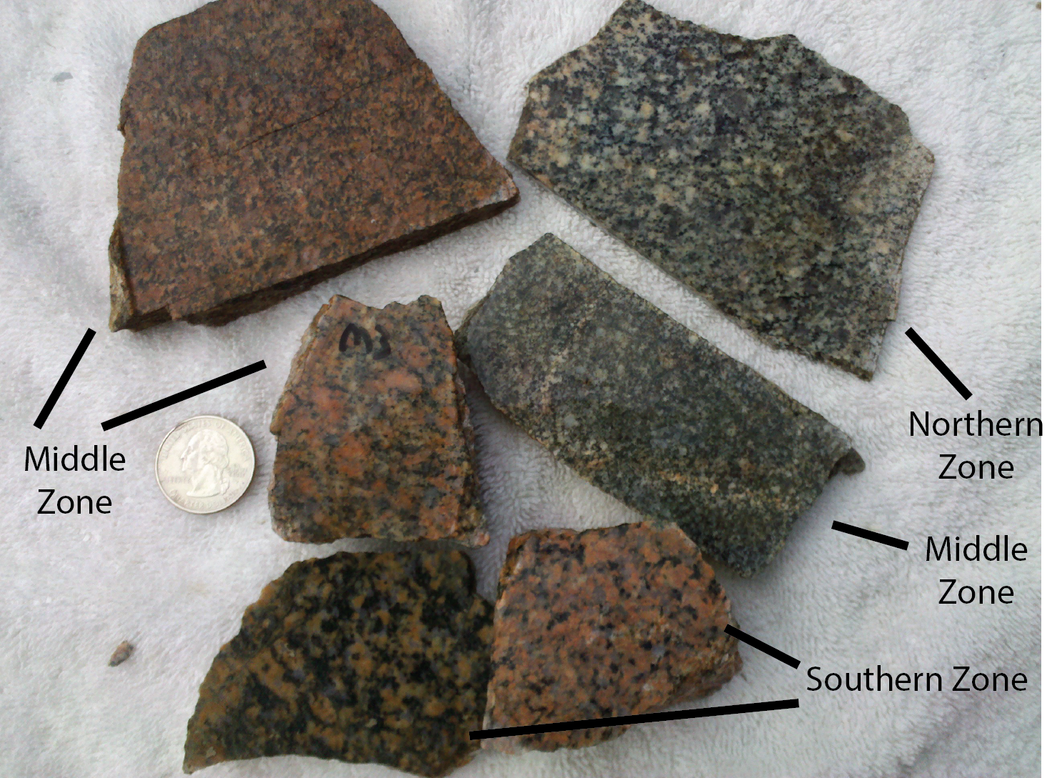 Hand samples of sgr